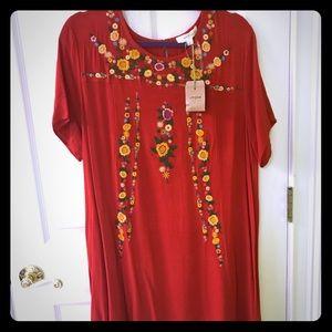 Red umgee dress